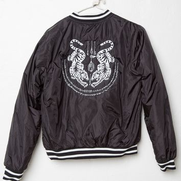 Liz Tiger Embroidery Bomber Jacket - Brandy Melville