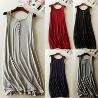 Soft Maternity Casual Dresses New summer long modal Dress Clothes For Pregnant Women Pregnancy Clothing vest skirt WD2