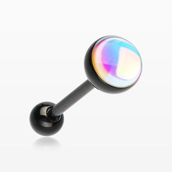 Colorline Iridescent Revo Barbell Tongue Ring
