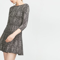 JACQUARD DRESS WITH LOW CUT BACK