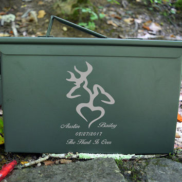 Ammo Box with a Buck & Doe design