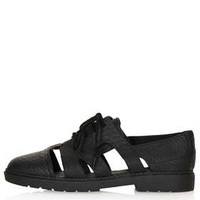 METZ Cutout Lace Up Shoes