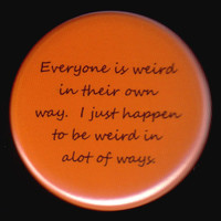 Very Weird Button by kohaku16 on Etsy