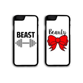 Beauty and Beast Couples Phone Cases for Galaxy S3/S4/S5 and iPhone 4/4S/5/5S/5C/6/6Plus FREE STANDARD SHIPPING!