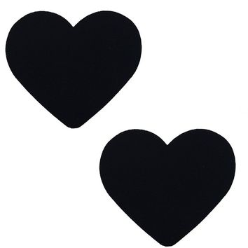 Heart Pasties in Black