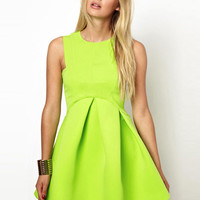 'The Isabella' Neon Yellow Party Dress