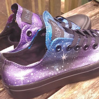 Custom hi- or lo-top Galaxy Converse made to order in a more mysterious color scheme