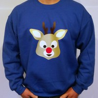 Red Nose Reindeer - WASHABLE UGLY CHRISTMAS SWEATER | StickItVinyls
