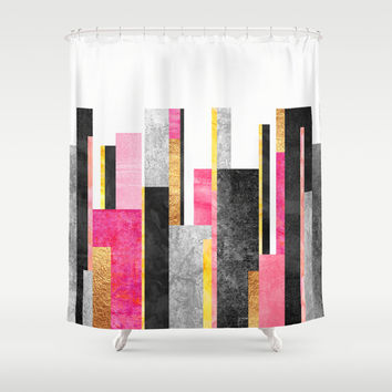 Skyline Shower Curtain by Elisabeth Fredriksson