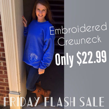 Embroried Monogram Sweatshirt