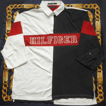 Vintage Tommy Hilfiger Rugby 80s 90s Long Sleeve Rare shirt