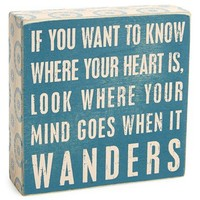 Primitives by Kathy 'Where Your Heart Is' Box Sign | Nordstrom
