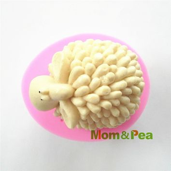 Mom&Pea 0392 Free Shipping Sheep Silicone Soap Mold Cake Decoration Fondant Cake 3D Mold Food Grade Silicone Mould