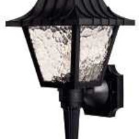Colonial Style Wall Lantern Porch Light With Short Tail And Clear Flemish Lenses, Uses One 60 Watt Incandescent Bulb, Black