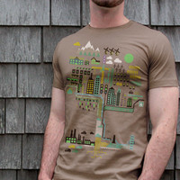 The Ecology of Urban Infographic T-shirt