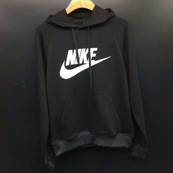 NIKE Fashion Casual Loose Long Print Long Sleeve Hooded Loose Sweater G-A-GHSY-1