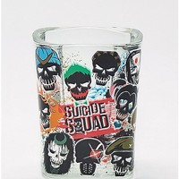 Square Poster Art Suicide Squad Shotglass - 1.5 oz - Spencer's