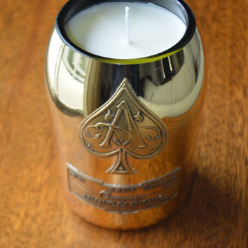 Upcycled Ace of Spades Soy Candle