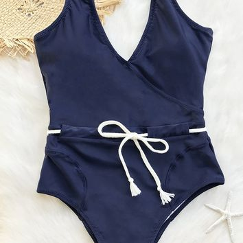 Cupshe Sing In The Clouds Solid One-piece Swimsuit