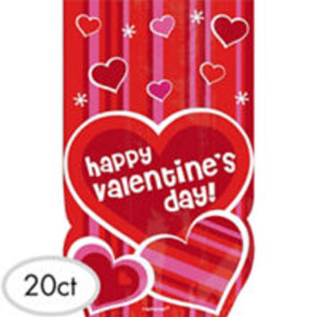 Large Valentines Day Treat Bags 20ct