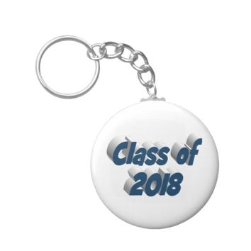 Class of 2018 3D Key Chains, Dark Violet Keychain