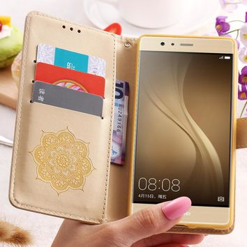 FLOVEME For Huawei P9 Lite P10 Case Flip Leather Cover For Huawei Ascend P9 Lite P10 For iPhone 7 6 6S Plus 5 5S SE Accessories