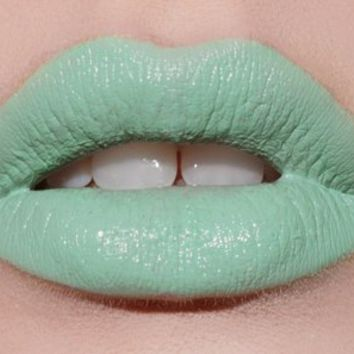 Lime Crime Opaque Mint Green Lipstick Mint To Be:Amazon:Beauty
