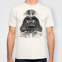 Watercolor Vader Painting T-shirt by Olechka