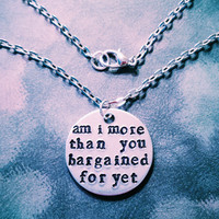 Fall Out Boy Hand Stamped Necklace