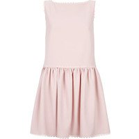 Red Valentino Scalloped Drop Waist Dress