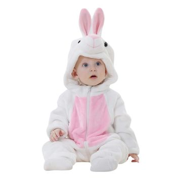 Funny Bunny Ears Deluxe Infant Toddler Hoodie Romper