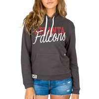 Atlanta Falcons Junk Food Women's Sunday Pullover Hoodie – Black
