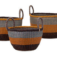Camila Sea-Grass Baskets, Set of 3, Storage Baskets