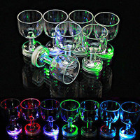 Enduring Unique LED Wine Glass Light Up Barware Drink Cup transparen cup LSCA