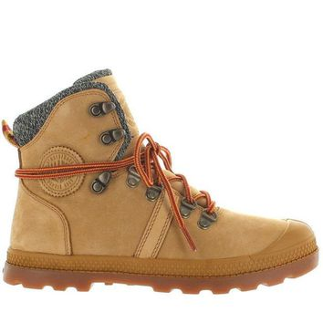 VONES2C Palladium Pallabrouse Hiker LP - Amber Gold/Red/Gum Leather/Textile Hiking Boot