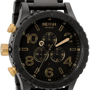 Nixon 51-30 Chrono Matte Black & Gold Watch
