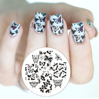Various Butterfly Nail Art Stamping Template Image Plate