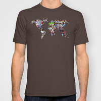 world map abstract  T-shirt by bri.buckley