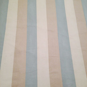 Cottage Area rug, floor rugs, The Beach House Area Rug, hand painted Drop cloth, home decor,  French Country , cottage, chic, shabby, stripe