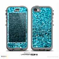 The Turquoise Glimmer Skin for the iPhone 5c nüüd LifeProof Case