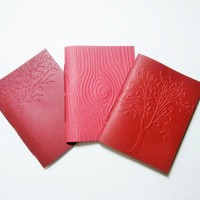 Mini Notebooks | Pocket Journals | Tree Notebooks | Cahiers | Embossed Notebooks | Travel Jotters | Red Notebook Set | Blank Notebooks