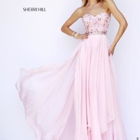Sherri Hill Strapless Beaded Gown 1943