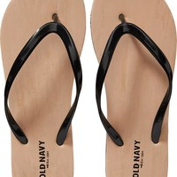 Old Navy Womens Wood Print Flip Flops