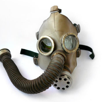 Vintage Soviet gas mask child, adult gas mask size xs, steampunk, cyber mask, respirator. The gas mask PDF-D