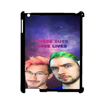 Jacksepticeye And Pewdiepie Markiplier 001  iPad 2/3/4 Case