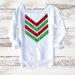Not Your Ugly Christmas Sweater - Red and Green Sequin Chevron Sweatshirt Jumper