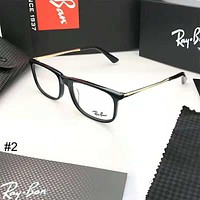 RayBan plate men's and women's glasses frame full frame large face optical frame #2