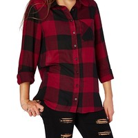 Buffalo Plaid Boyfriend Button Down