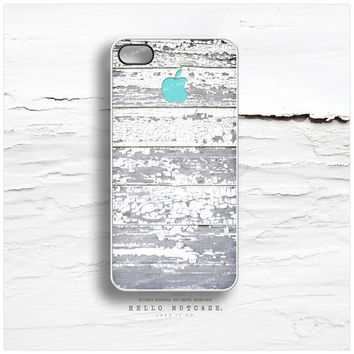iPhone 4 and iPhone 4S case Pealing Paint Teal Logo T3