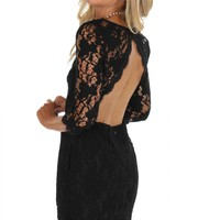 Graced In Lace Dress Black